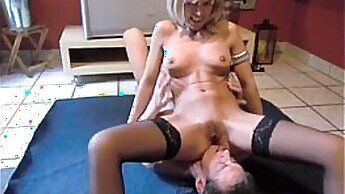 Bigtits brunette milf ass banged and peeing