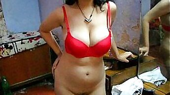 blonde-haired angel of your dream in sexy lingerie Indian girlfriend