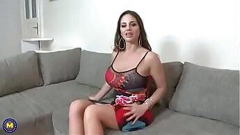 Big titty young latina fucks her mature mom
