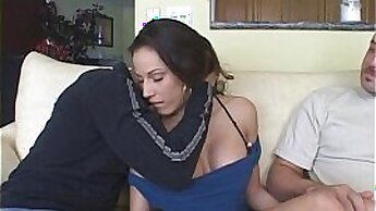 Brunette Housewife gets a load of CUM on her Suits