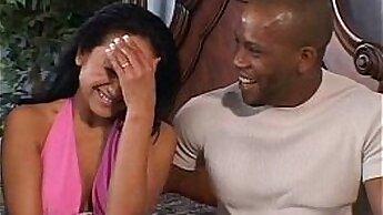 Black babe interracial anal fucking
