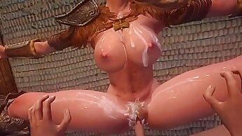 Allie fucked hard in her forest by her lucky boy