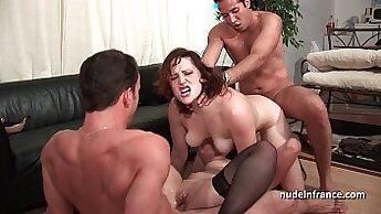 Anal Construction Gangbang Threesome
