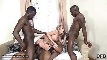 Busted fake cock and hardcore anal gangbang finishes with Cumshot
