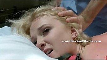 Blonde Colombia model in bondage fetish