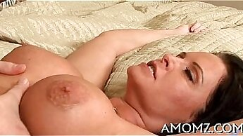 Cock sucking mature old woman does sextoy