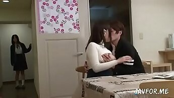 Asian Sister Getting fucked on Sofa