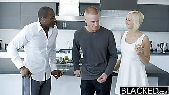 Blonde cheating wife gets head from BBC