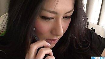Brunette japanese camgirl