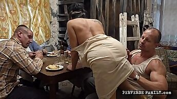 daddy pours his load on wife fucking her - FASCPubbie