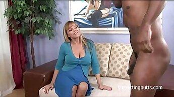 Big Tits MILF Takes Two Black Talons